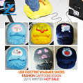 Cartoon Thickened USB Warm Shoes Winter Slipper Electric Heated Foot Warmer Super Soft Anti slip Foot