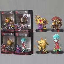 4 Pcs/set DOTA 2 Game Action Figure Toys Bounty Hunter BH Strygwyr Krobelus Toxic Warlock Collection PVC Dolls With Gift Box