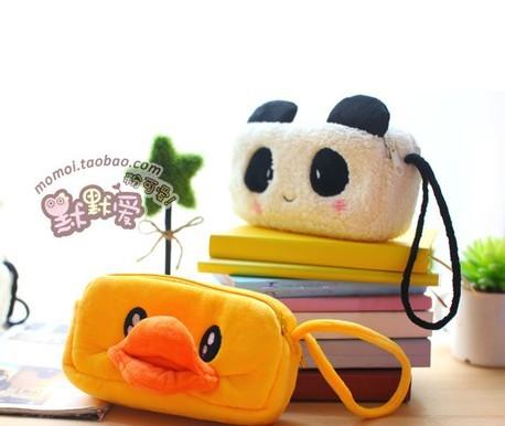 Korea creative stationery cartoon zipper pencil case school girl cute plush bag<br><br>Aliexpress