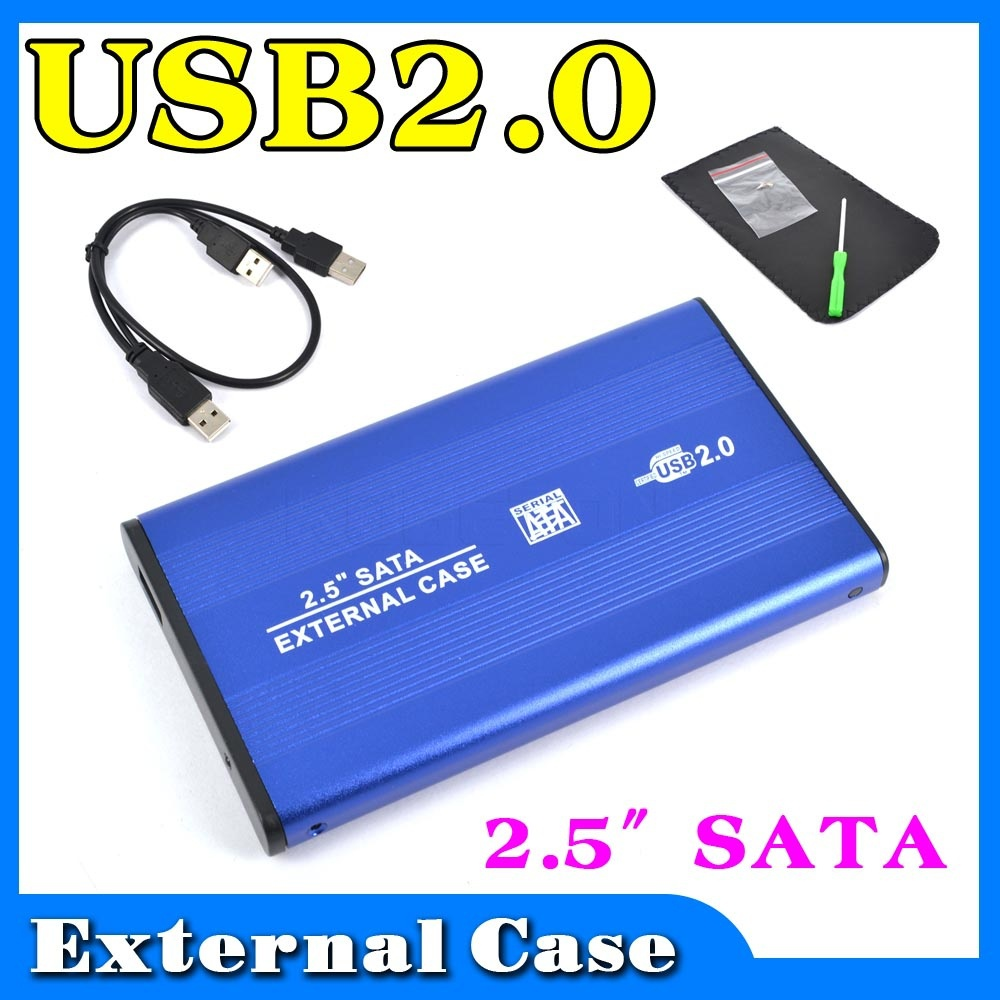 External USB 2.0 to HARD DISK DRIVE SATA 2.5 inch HDD Adapter CASE Enclosure Box for PC Computer Laptop Notebook<br><br>Aliexpress