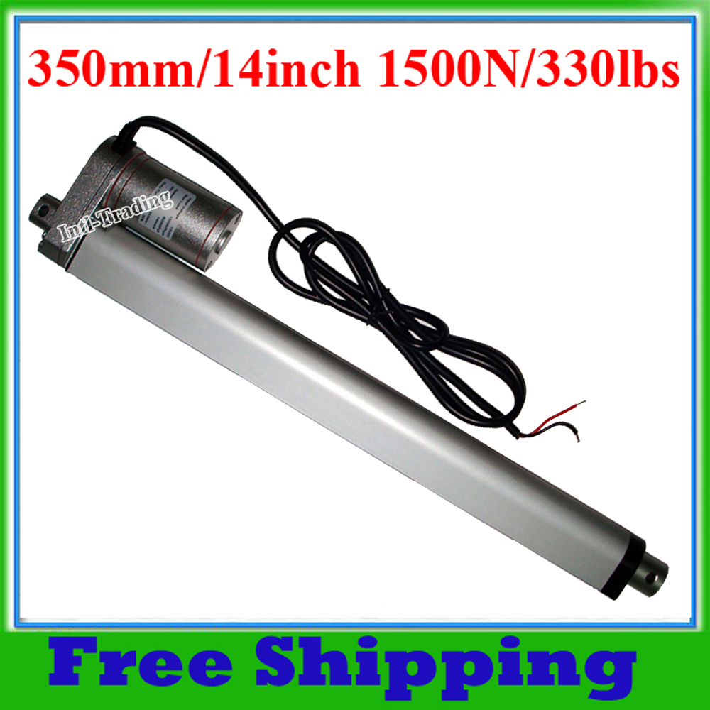 Linear Actuator 350mm/14inch Stroke Heavy Duty 1500N=150KG Load 330lbs Max Lift 12V DC Mini Motor for Electric Sofa/Bed/Window(China (Mainland))