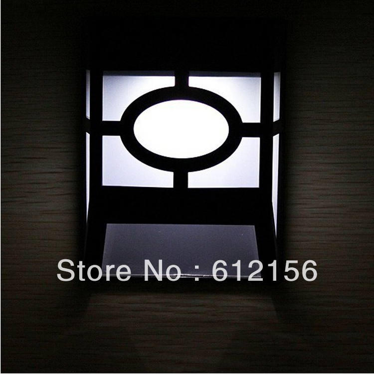 Solar Wall Lights White : Retro Vintage 2 LED Solar Fence Lights Led Solar Wall Lights Outdoor For Garden Home Fence-in ...