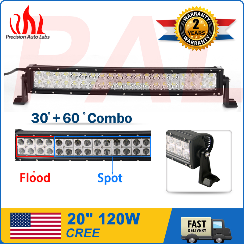 120W 20Inch Curved Led Work Light Bar Flood Spot Combo Driving Offroad Truck 4WD(China (Mainland))