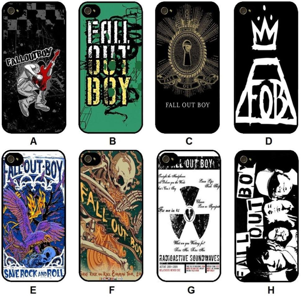 FALL OUT BOY AMERICAN ROCK BAND Plastic Hard Cell Phones Cover Case for Apple for iPhone 4 4s Phone Cases(China (Mainland))