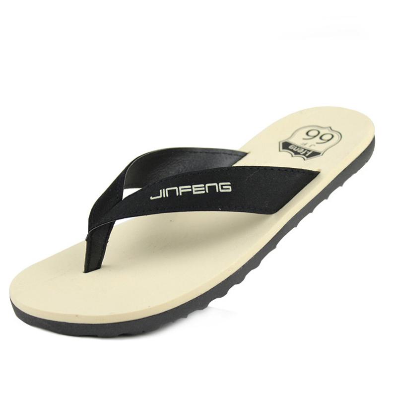 2016 New fashion summer men sandals soft casual slippers beach flip flops rubber sole flat shoes
