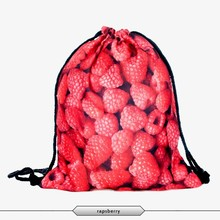 2015 New Fashion Escolar Backpack 3D Printing Travel Softback  Women Mochila Drawstring Bags Men's Backpacks