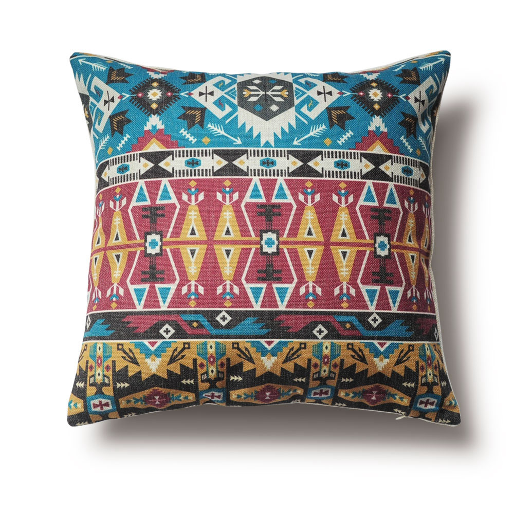 Aliexpress.com : Buy Tribal Patterns Pillow Cover, Ethnic ...
