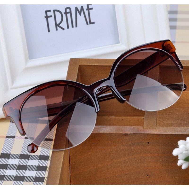 2015 Fashion Vintage Retro Cat Eye Round Sunglasses Fashion Stylish
