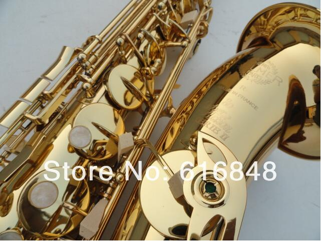 France Copy Henri selmer Bb tenor saxophone instruments Super action 80 series II Gold Lacquer sax mouthpiece - wutingting wu's store
