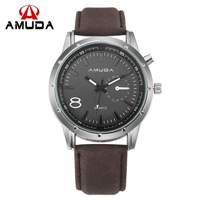 Zegarek męski AMUDA casualowy biznesowy skórzana opaska różne kolory