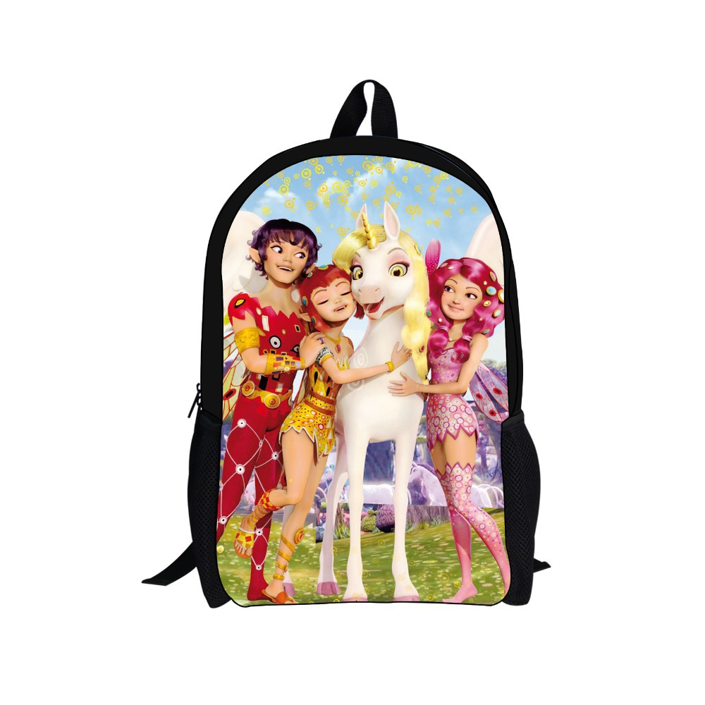 Trendy 3D Cartoon Princess Printing Child s Backpack for Teenager Girls Cute Mia and Me Kids School Backpacks Outdoor Horse Bags