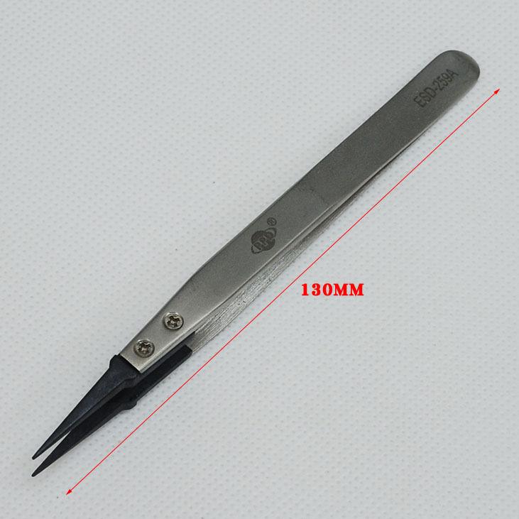 20PCS ESD-259A tweezers anti-static carbon fiber head ESD anti-static tweezers<br><br>Aliexpress