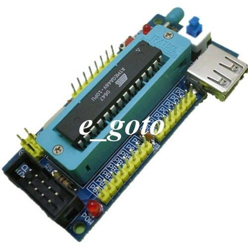 DIY Kit ATmega8 ATmega48 AVR Minimum System Development Board Kits Miniture Mini Electronic Suite Parts (NO Chip)(China (Mainland))
