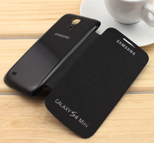 5 Colors Quality Flip Leather Case For Samsung Galaxy S4 Mini Cover Original Phone Case For Galaxy S4 Mini With Logo(China (Mainland))