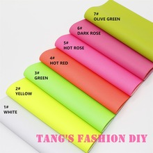 7PCS--High Quality DIY fluo color PU leathers/Synthetic leather/DIY fabric 20x22cm per pcs CAN CHOOSE COLOR(China (Mainland))