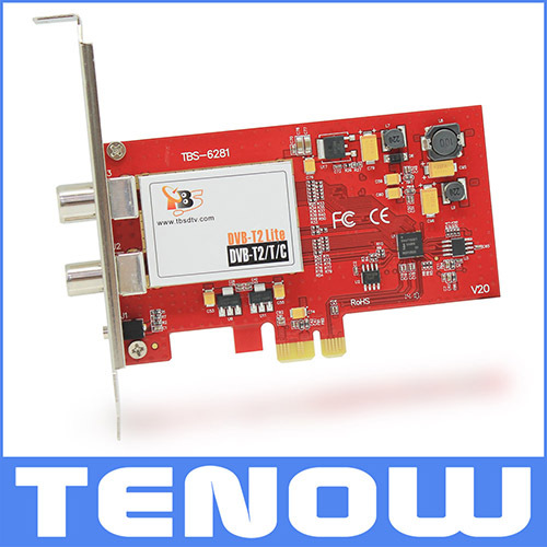 TBS6281(the successor of TBS6280) DVB-T2 PCIe Dual Tuner Card,Freeview TV Tuner to Watch Freeview TV DVB-T2 TV Channels(China (Mainland))