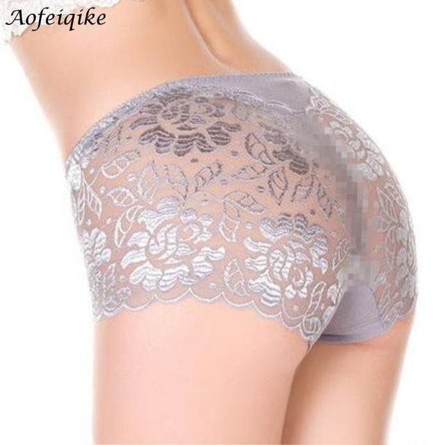Women underwear трусы сексуальные женские Трусики полностью прозрачные кружева бесшовные строка плюс размер женщин underwear
