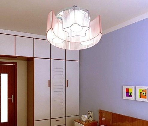 moon and star ceiling light drawing light child lamp