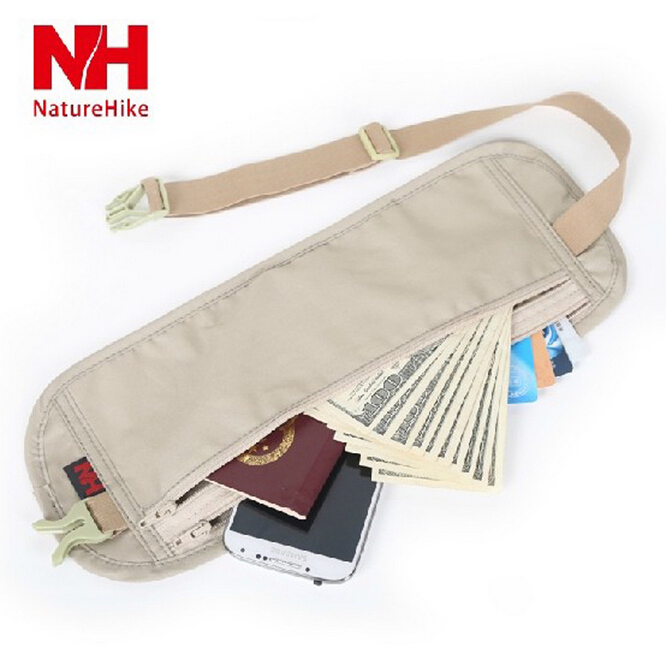 NatureHike-NH travel money belt waist bag men/women certificate bags running hiking bumbag guard against theft invisibility bag(China (Mainland))