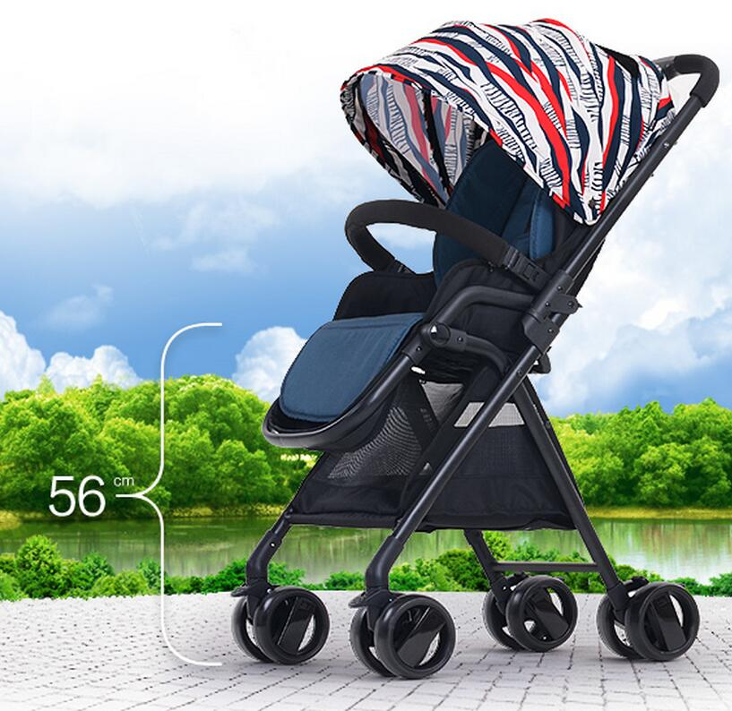 Best Selling Super Light Baby Stroller High Landscape Baby Trolley Reclining Folding Easy Shockproof Baby Cart(China (Mainland))