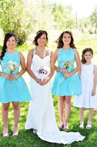 Coral Colored Bridesmaid Wedding Guest Dress Maid Of Honor Dresses For Weddings vestido de dama de honra rosa(China (Mainland))