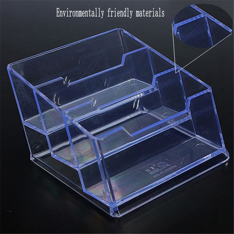 3 Szie Transparent Clear The Cards Case Plastic Business Card Holder Design For Easy Placement(China (Mainland))