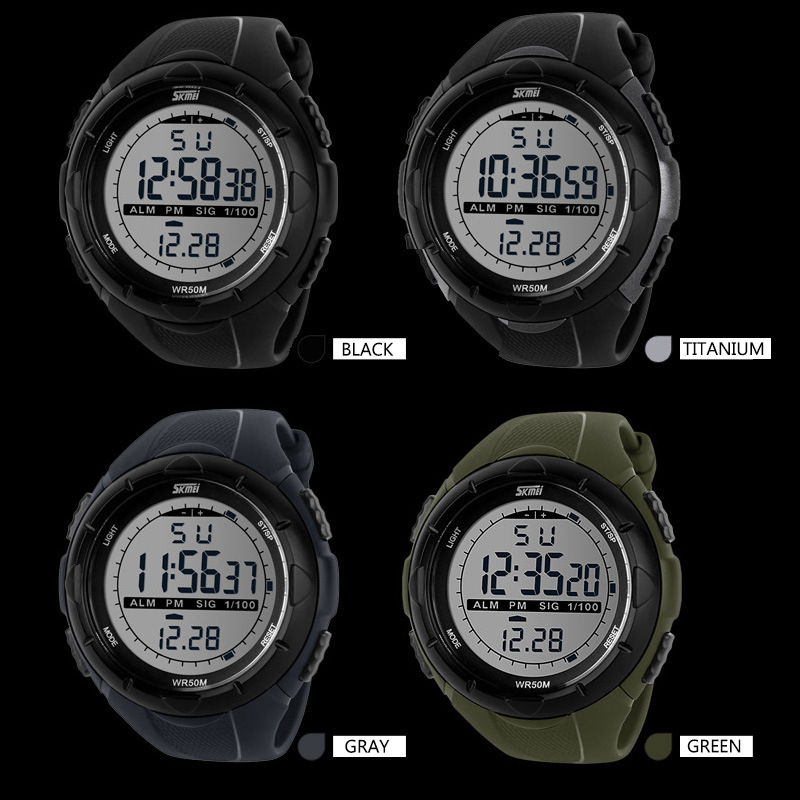 2015 Men Sports Watches SKMEI Brand LED Electronic Digital Watch Outdoor Dress Wristwatches Military Watch relogios