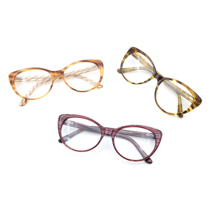 women eyeglasses frame acetate cat eye high quality fashion woman stylish female glasses optical prescription eyewear