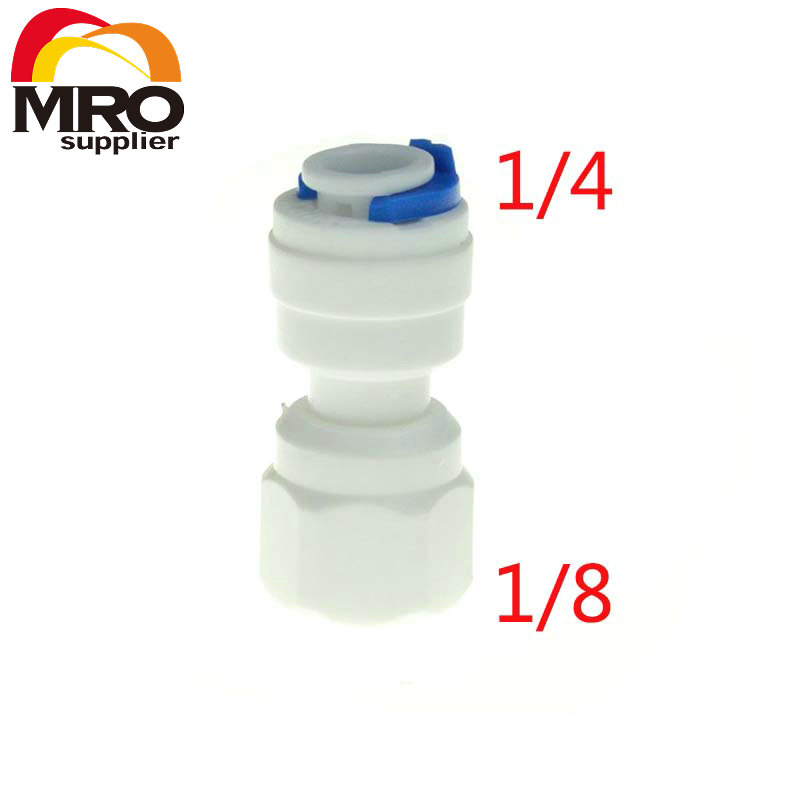 """1/4"""" OD Hose Connection 1/8"""" Thread Straight Quick Connector RO Water Reverse Osmosis Aquarium System Connection Fittings ST036(China (Mainland))"""