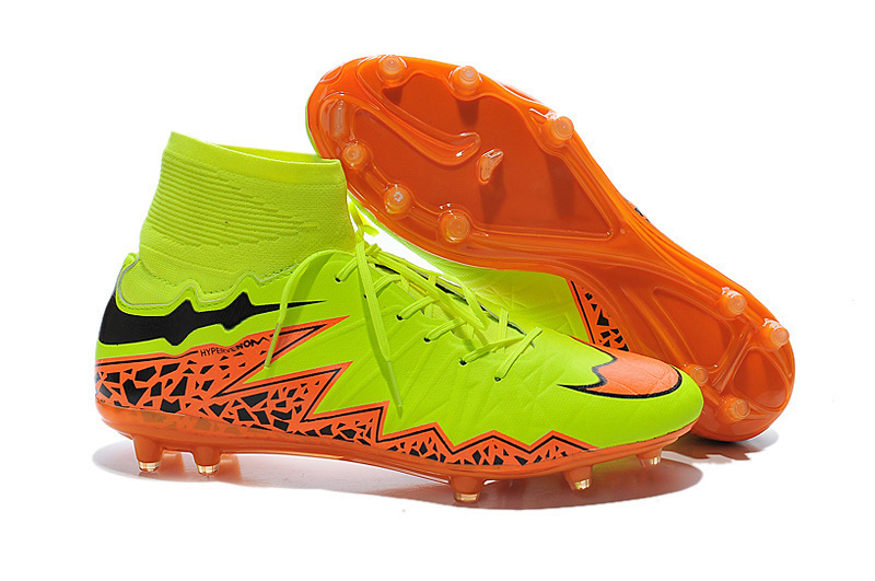 New 2015 High Ankle Neymar Hypervenom II Phantom Premium FG Footbal Boots Mens Soccer Cleats Chuteira Superflys Soccer Shoes(China (Mainland))