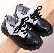Toddler girl boots children's kids patent leather boots boys single princess spring autumn chaussure led enfant 362(China (Mainland))