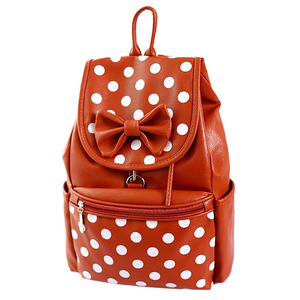Backpack Bags For Girl Fasion School Bag PU Shoulders Bag Backpack Bow Dot Student Bagpack For Women Rucksack mochila feminina<br><br>Aliexpress