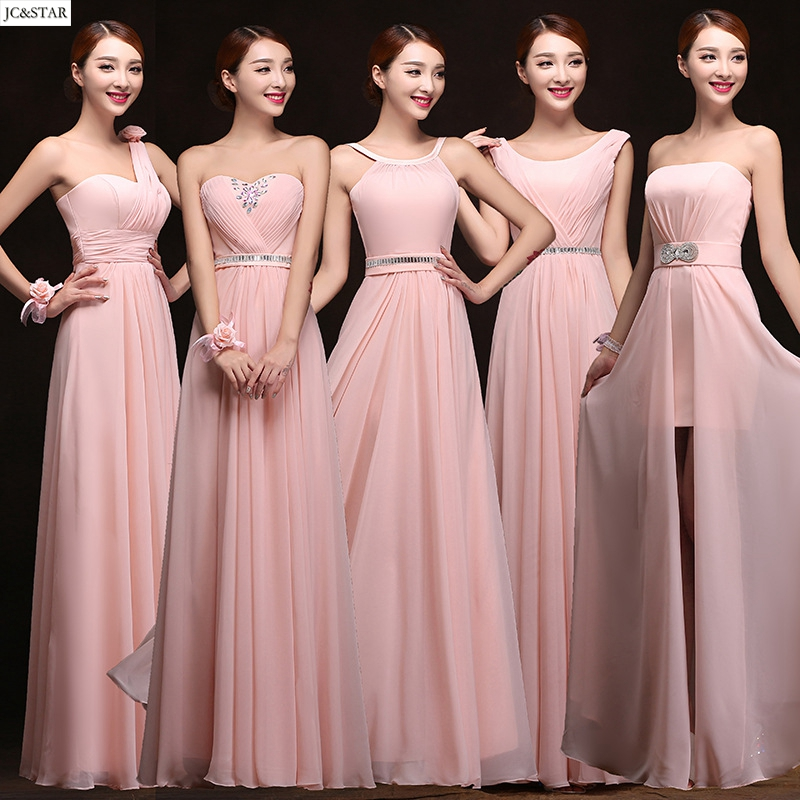 online get cheap blush pink bridesmaid dress alibaba group. Black Bedroom Furniture Sets. Home Design Ideas