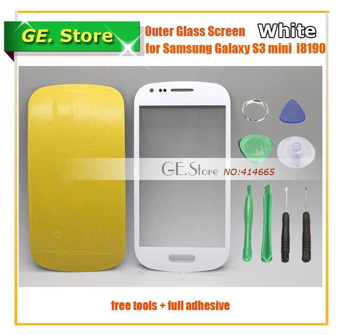 White Original Outer Glass Touch Screen FOR Samsung Galaxy GT-i8190 S3 SIII mini i8190 Digitizer/lcd front lens tools+adhesive - Gadget Express Store store