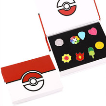 Pokemon Badge Brooch Small Pokemon Figures Toy Zinic Alloy Brooch Pokemon Action Figures Anime Toy