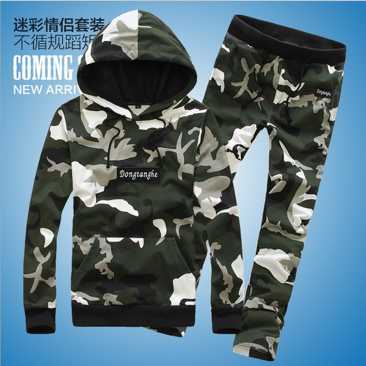 1ew arrival 2014 leisure cotton sweatshirt men sports print camouflage pullover man tracksuits casual clothing set Free shippingОдежда и ак�е��уары<br><br><br>Aliexpress
