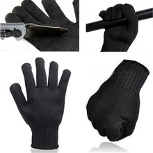 1 Pair Top Quality Gloves Proof Protect Stainless Steel Wire Safety Gloves Cut Metal Mesh Butcher Anti-cutting Work Gloves
