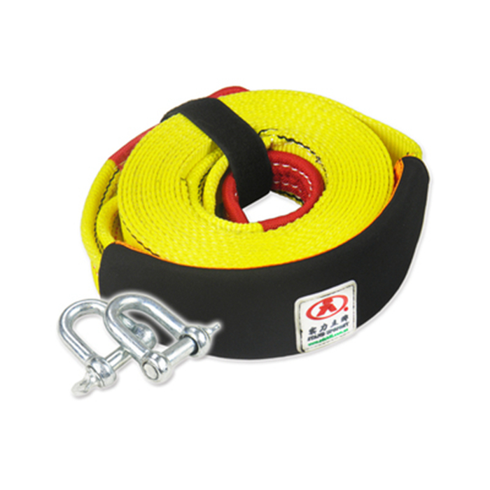 75mm Car Towing Rope 10Tons 4M Strap Tow Cable with Hooks Emergency Heavy Duty(China (Mainland))