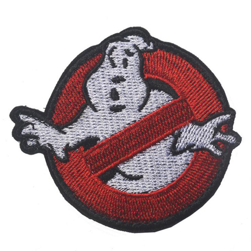 """Ghostbuster Movie NO GHOST Embroidered Uniform Logo Patch Embroidered 2 3/4"""" Wide PATCHES Gift Clothing Backpack Armband Patches(China (Mainland))"""