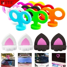 New Automobiles Antenna Ball Lovely Rabbit Ears Stickers Cute Hellokitty 3D Decals Smart Sticker for MINI Car Roof Motorcycle