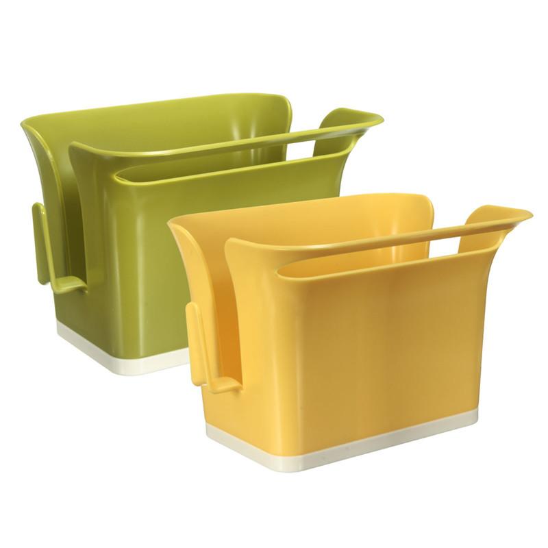 Best Price Kitchen Washroom Tools Brush Sponge Cleaning Goods Utensils Storage Rack Holder Stands Box Dish Self Drain Organizer(China (Mainland))