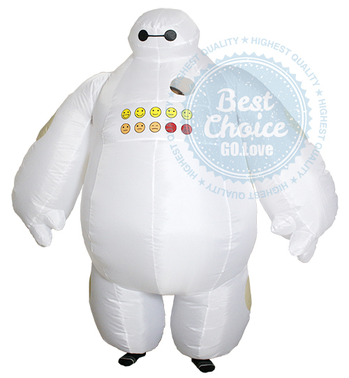2015 NEW Big Hero 6 Halloween Inflatable Baymax costume fancy suit clothes Baymax Costume Adult 2m