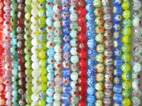 6mm Round Millefiori Glass beads+1280 Beads/18 Strands+DIY Jewelry Necklace/Bracelet Beads B1-B9