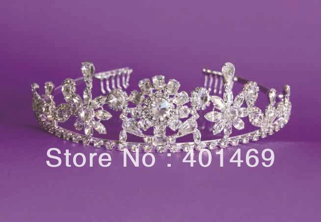NEW bridal wedding silver crystals tiara hair jewelry<br><br>Aliexpress