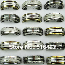 50pcs Double Layer Spin Stainless steel Men Women Rings