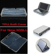 Transparent Soft TPU Clear Case Protective Cover Shell for Nintendo NEW 3DS XL/N3DSLL Console Crystal Body Protector