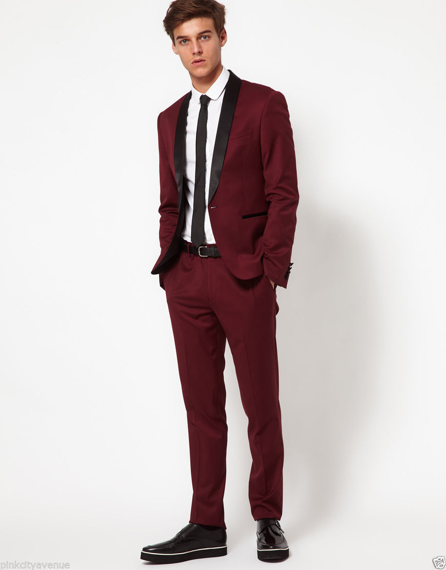 High Quality Wine Red Slim Fit Suit-Buy Cheap Wine Red Slim Fit