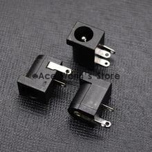 10Pcs DC-005 Black DC Power Jack Socket Connector DC005 5.5*2.1mm 2.1 socket Round the needle(China (Mainland))