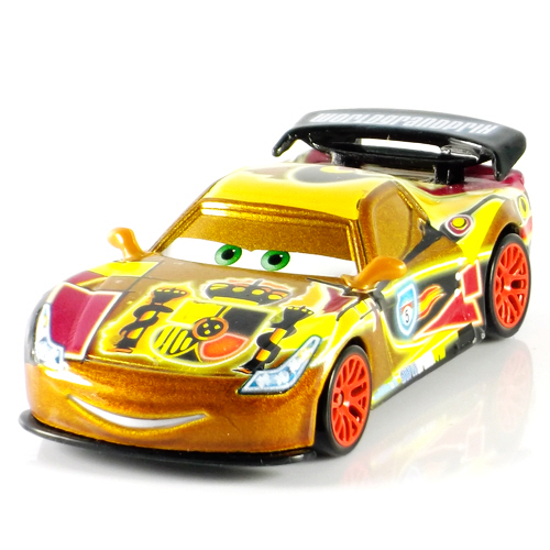 Diecast Metal Cars Pixar Cars 2 Neon Metallic