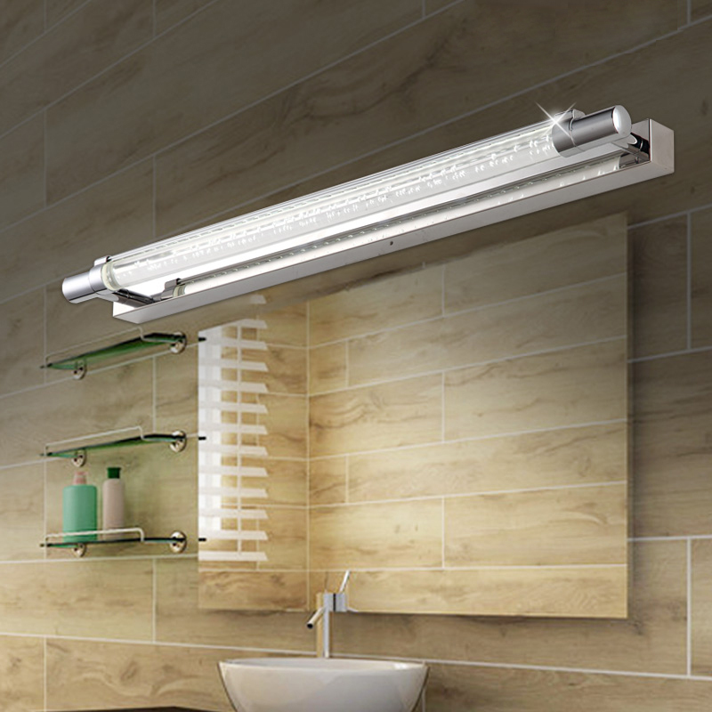 Brief modern led mirror light  stainless steel bathroom cabinet  wall lamp makeup mirror